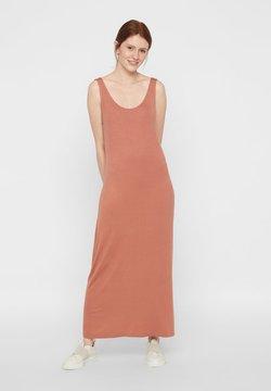 Pieces - PCKALLI TANK DRESS - Maxikleid - copper brown