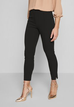 Selected Femme Petite - SLFILUE PINTUCK SLIT PANT - Pantalones - black