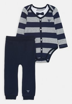 Guess - PANTS SET - Stoffhose - blue/grey