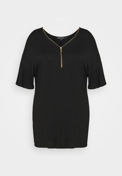 Simply Be - NOTCH FRONT - T-shirt con stampa - black