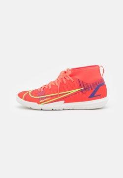 Nike Performance - MERCURIAL 8 ACADEMY IC UNISEX - Zaalvoetbalschoenen - bright crimson/metallic silver