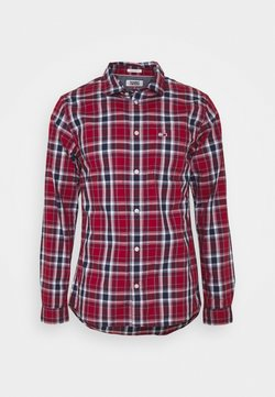 Tommy Jeans - FADED CHECKS  - Hemd - wine red / multi