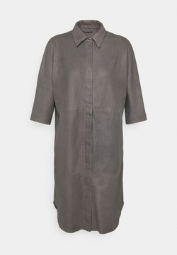 DEPECHE - LONG SHIRT DRESS - Robe chemise - concrete