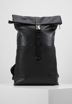 Zign - UNISEX LEATHER - Tagesrucksack - black
