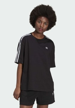 adidas Originals - OVERSIZED ADICOLOR RELAXED - T-Shirt print - black