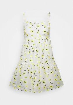 Never Fully Dressed Petite - FLOWER MINI DRESS - Freizeitkleid - white