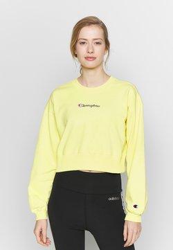 Champion - CREWNECK CROPTOP - Collegepaita - yellow