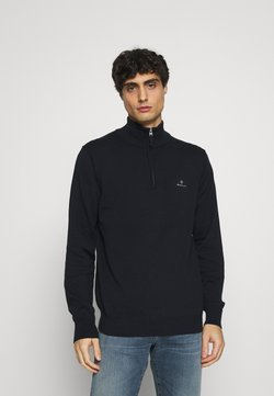 GANT - CLASSIC HALF ZIP - Strickpullover - evening blue