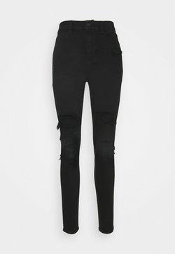American Eagle - CURVY HIRISE JEGGING - Jeans Straight Leg - black