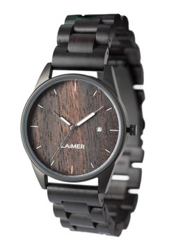 LAIMER - LAIMER QUARZ HOLZUHR - ANALOGE ARMBANDUHR SASCHA - Uhr - black