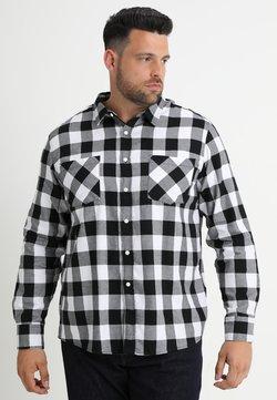 Urban Classics - CHECKED - Hemd - black/white