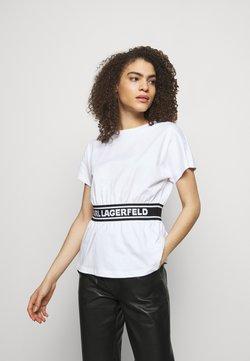 KARL LAGERFELD - LOGO TAPE - Nachtwäsche Shirt - white