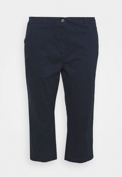 CAPSULE by Simply Be - CROP CHINOS - Shorts - navy