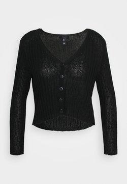 New Look Petite - STITCHY CARDIGAN - Gilet - black
