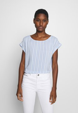 TOM TAILOR DENIM - SPORTY ALL OVER PRINTED BLOUSE - Bluse - light blue