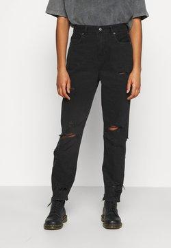 American Eagle - CURVY MOM  - Jeans Slim Fit - destroyed black