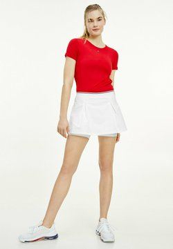 Tommy Hilfiger - REGULAR C NK LBR TEE SS - T-shirt basic - primary red