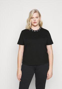 Calvin Klein Jeans Plus - PLUS LOGO TRIM TEE - T-shirt z nadrukiem - black