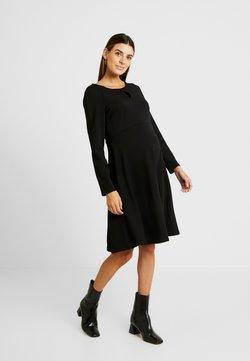 Dorothy Perkins Maternity - KEYHOLE SEAM FIT AND FLARE DRESS - Trikoomekko - black