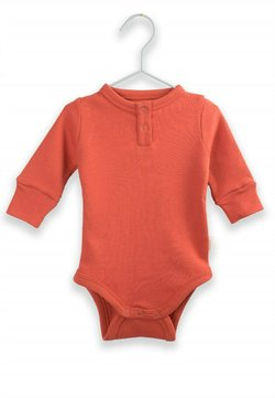 Cigit - Buttoned Long Sleeve Bodysuit (0 to 3 years) - Body - tile