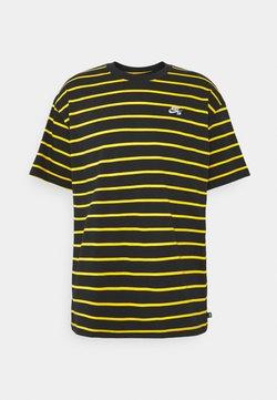 Nike SB - STRIP TEE UNISEX - T-Shirt print - black/university gold