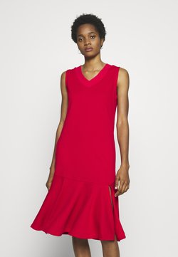 Lost Ink - LESS FRILL WITH POCKETS - Vestido informal - red