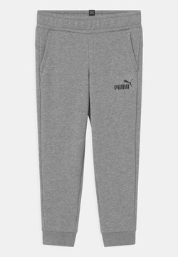 Puma - LOGO UNISEX - Spodnie treningowe - medium gray heather