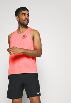 Nike Performance - RISE TANK - Sports shirt - multicoloured/reflective silver