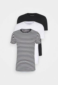 Calvin Klein Jeans - TEE 3 PACK  - T-paita - black/ black/ white