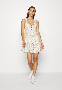 American Eagle - LINED TIE BACK MINI DRESS - Day dress - cream