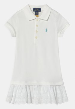 Polo Ralph Lauren - Freizeitkleid - white/turquoise cloud