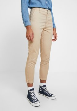 Abercrombie & Fitch - HIGH RISE PANT - Chinot - brown