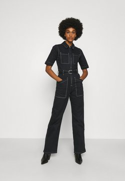 BDG Urban Outfitters - CONTRAST STITCH BOILERSUIT - Haalari - black