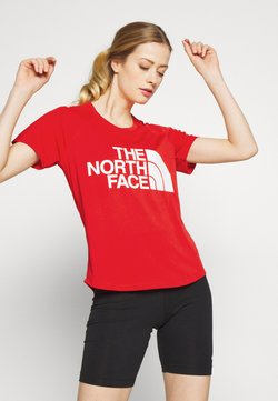 The North Face - WOMENS GRAPHIC PLAY HARD  - Printtipaita - fiery red