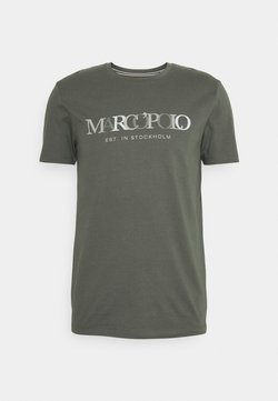 Marc O'Polo - SHORT SLEEVE CREW NECK ARTWORK ON CHEST - T-Shirt print - found fossil