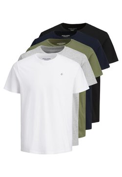 Jack & Jones - 5 PACK - T-shirt basic - white