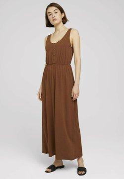 TOM TAILOR DENIM - Maxikleid - amber brown