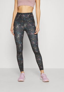 Even&Odd active - Tights - black/rose/multicoloured