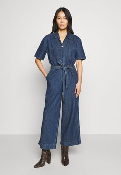GAP - BELTED - Haalari - medium indigo