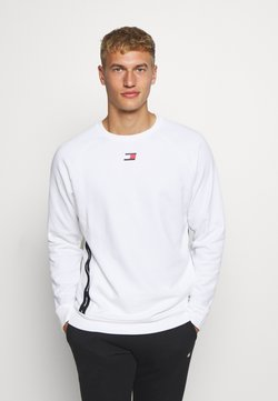 Tommy Hilfiger - TAPE CREW - Collegepaita - white