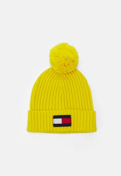 Tommy Hilfiger - BIG FLAG BEANIE POM POM - Mütze - yellow