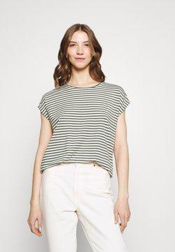 Vero Moda - VMAVA PLAIN STRIPE - T-Shirt print - pristine/laurel wreath