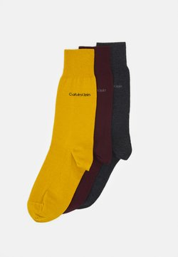 Calvin Klein Underwear - MEN CREW COMBED FLAT ERIC 3 PACK - Socken - bordeaux