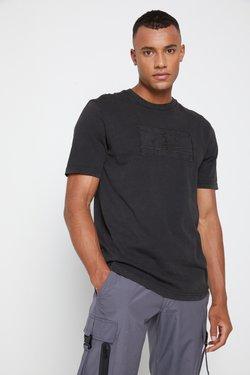 Tommy Hilfiger - LEWIS HAMILTON UNISEX GMD LOGO TEE - T-shirt z nadrukiem - black