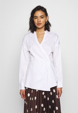 Who What Wear - THE WRAP BLOUSE - Camicetta - white