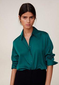 Mango - SATINI - Skjorta - groen