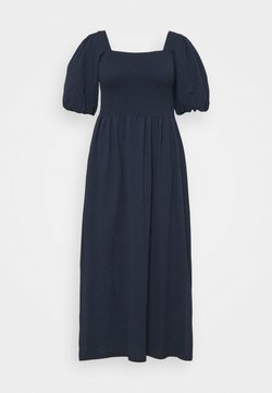 Vero Moda Curve - VMALINA ANKLE SMOCK DRESS  - Maxiklänning - navy blazer