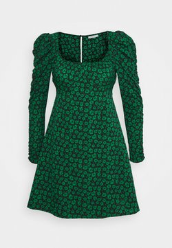 Topshop - RUCH SLEEVES DRESS - Vapaa-ajan mekko - green