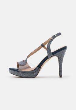 Menbur - Platform sandals - midnight blue