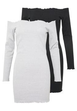 Missguided - LETTUCE MINI DRESS 2 PACK  - Freizeitkleid - grey/black